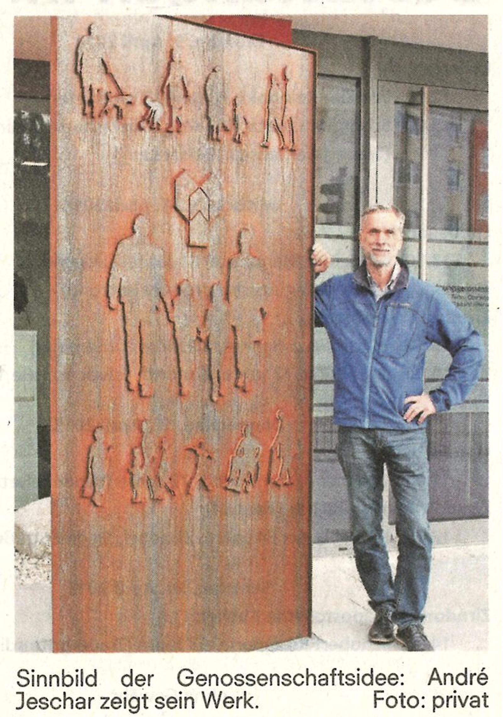 Bildhauer André Jeschar beauftragt …