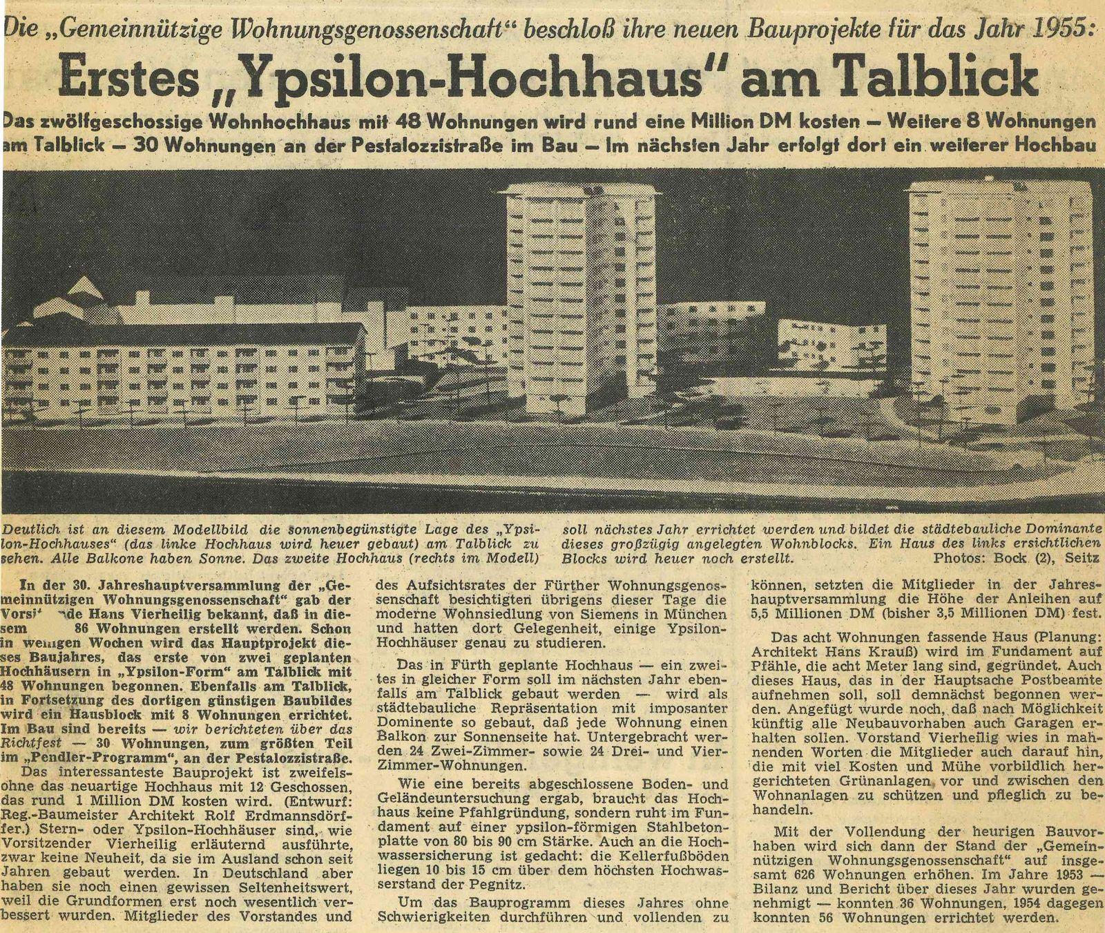 "Erstes ""Ypsilon-Hochhaus"" am Talblick …"