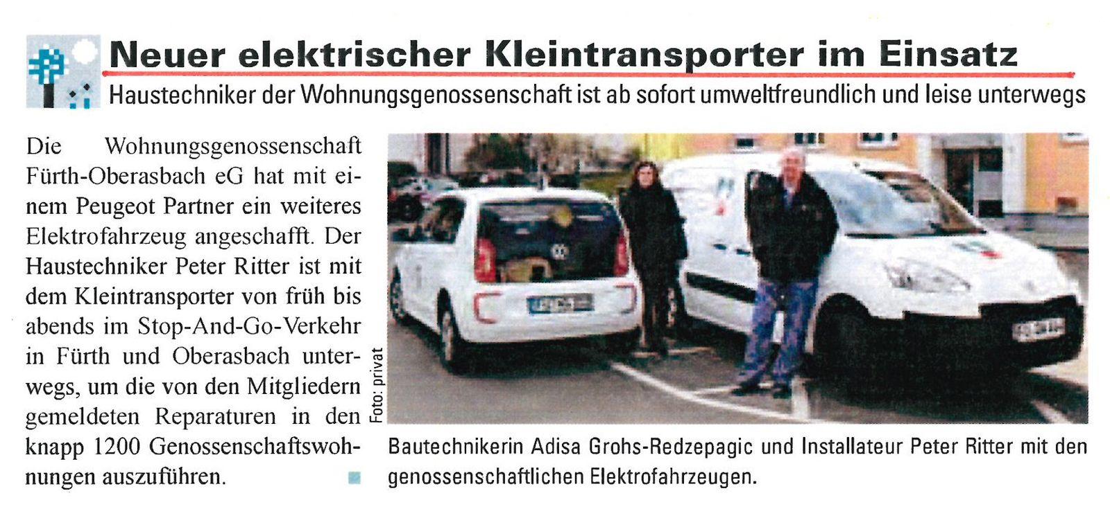Neuer elektrischer Kleintransporter im Einsatz …