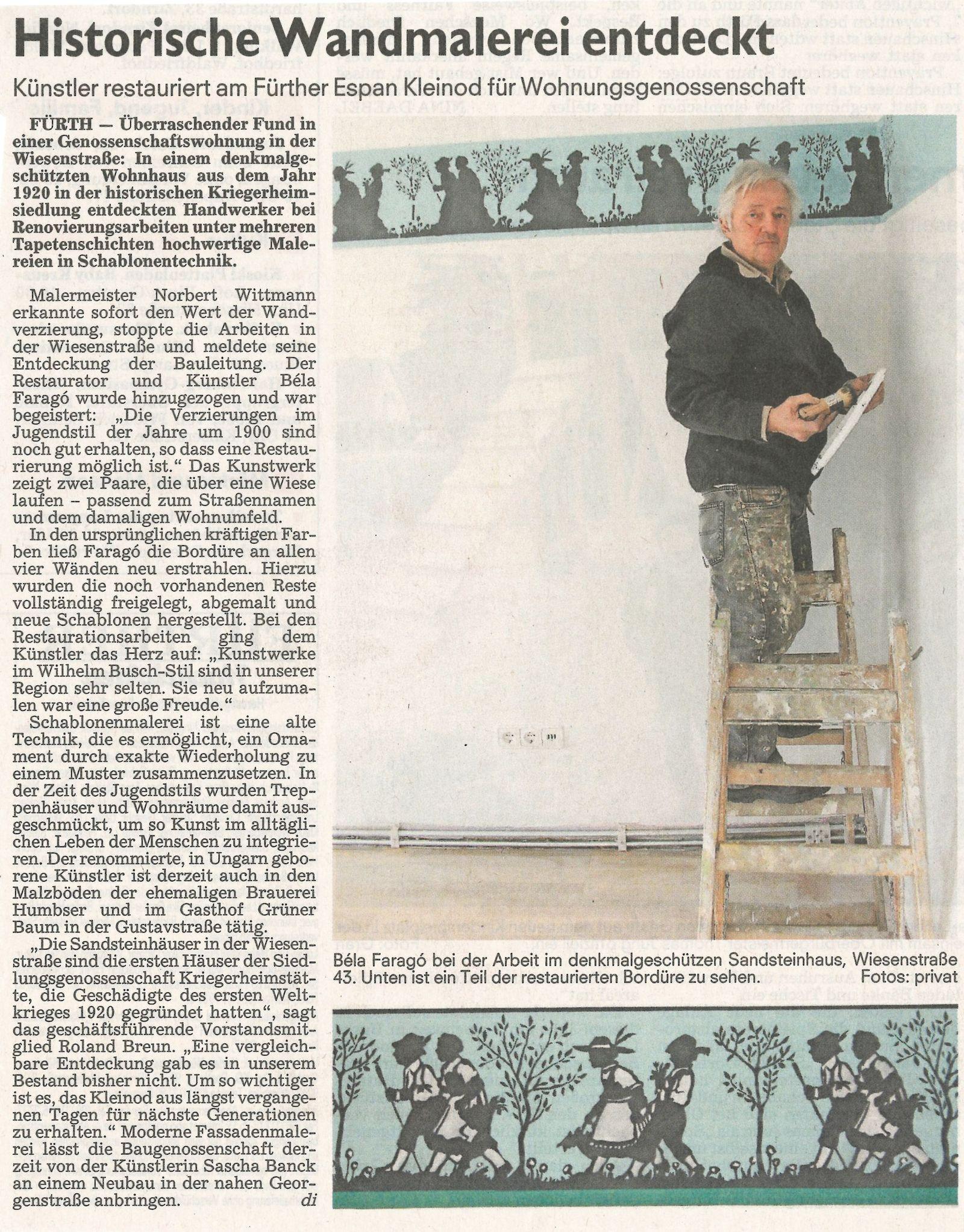 Historische Wandmalerei entdeckt …