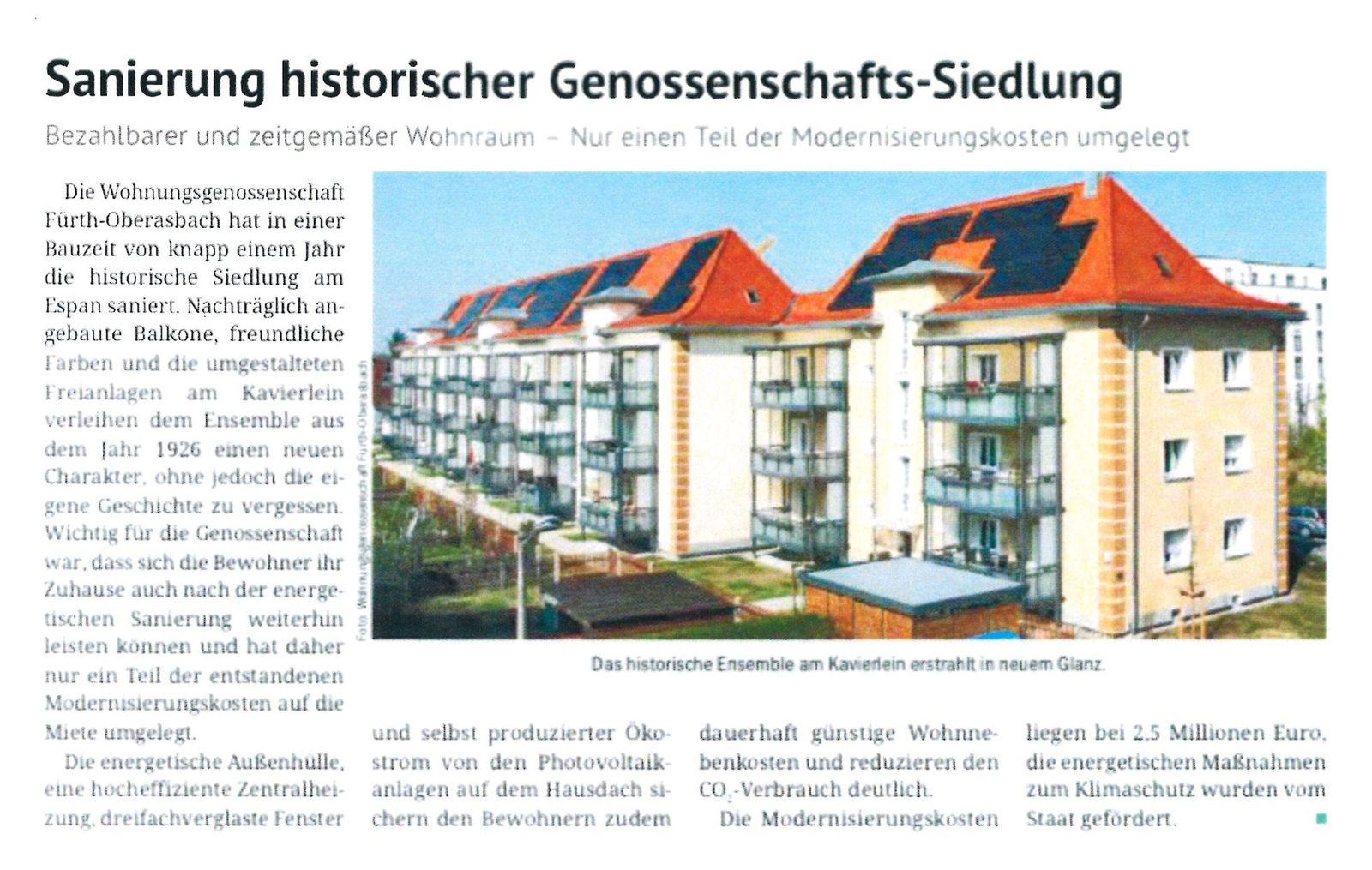 Sanierung historischer Genossenschafts-Siedlung …